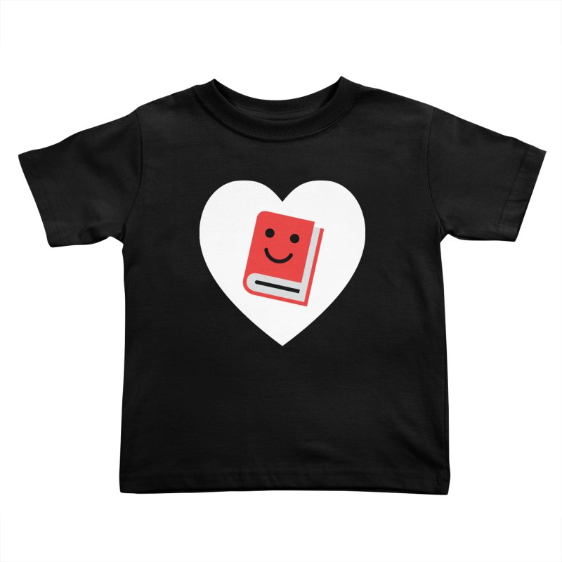 I Heart Books Kids Toddler T-Shirt by Eddie Fieg Graphic Design and Illustration