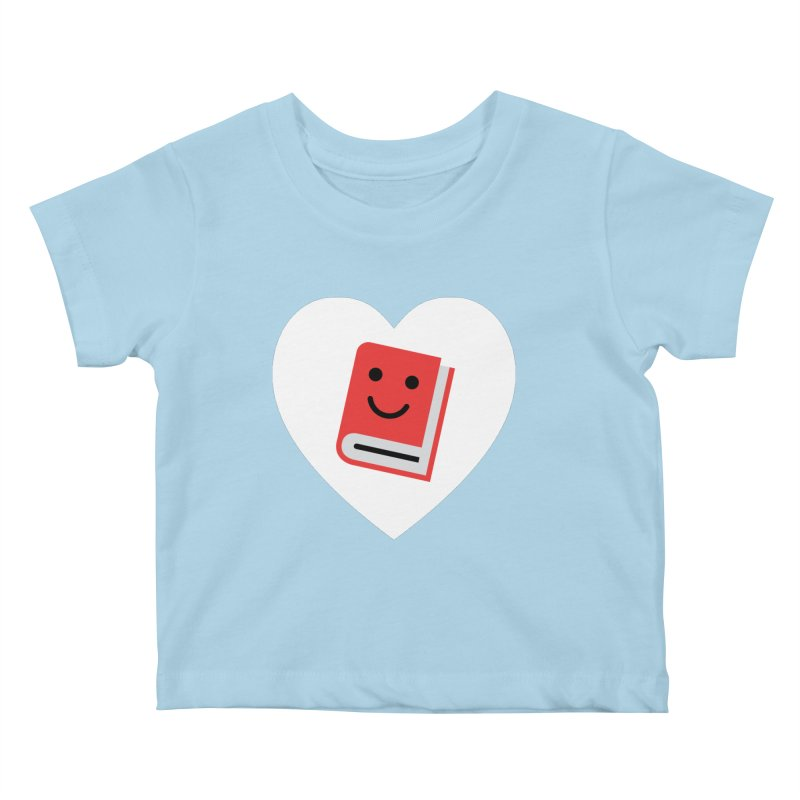 I Heart Books Kids Baby T-Shirt by Eddie Fieg Graphic Design and Illustration