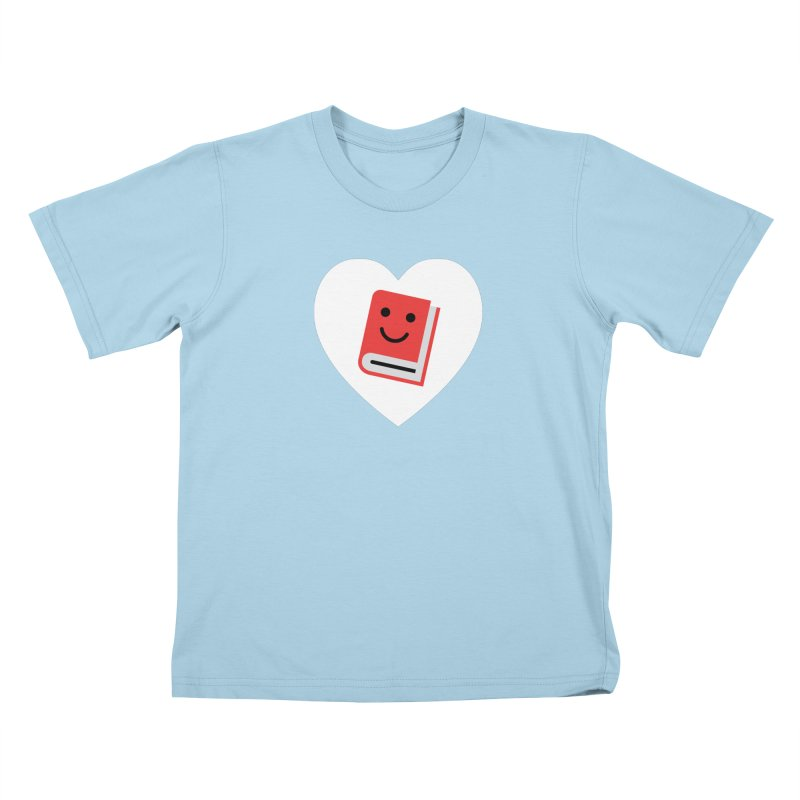 I Heart Books Kids T-Shirt by Eddie Fieg Graphic Design and Illustration