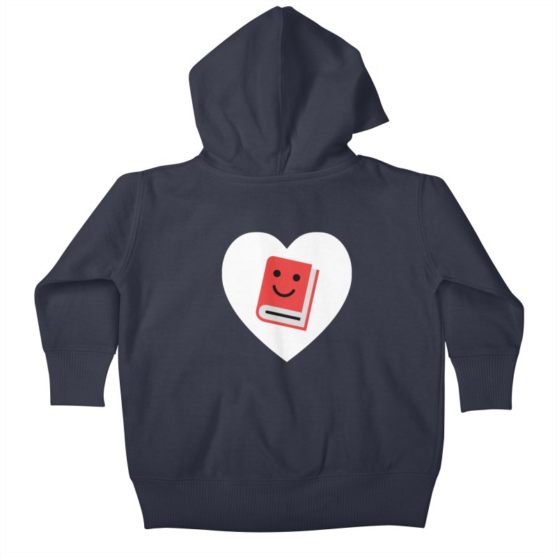 I Heart Books Kids Baby Zip-Up Hoody by Eddie Fieg Graphic Design and Illustration