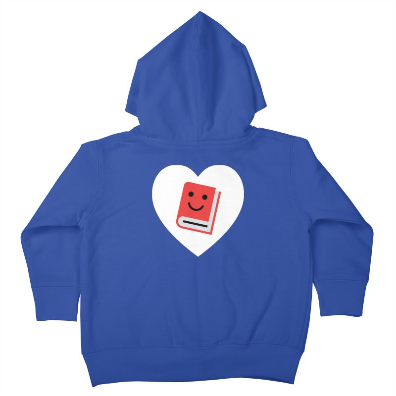 I Heart Books Kids Toddler Zip-Up Hoody by Eddie Fieg Graphic Design and Illustration