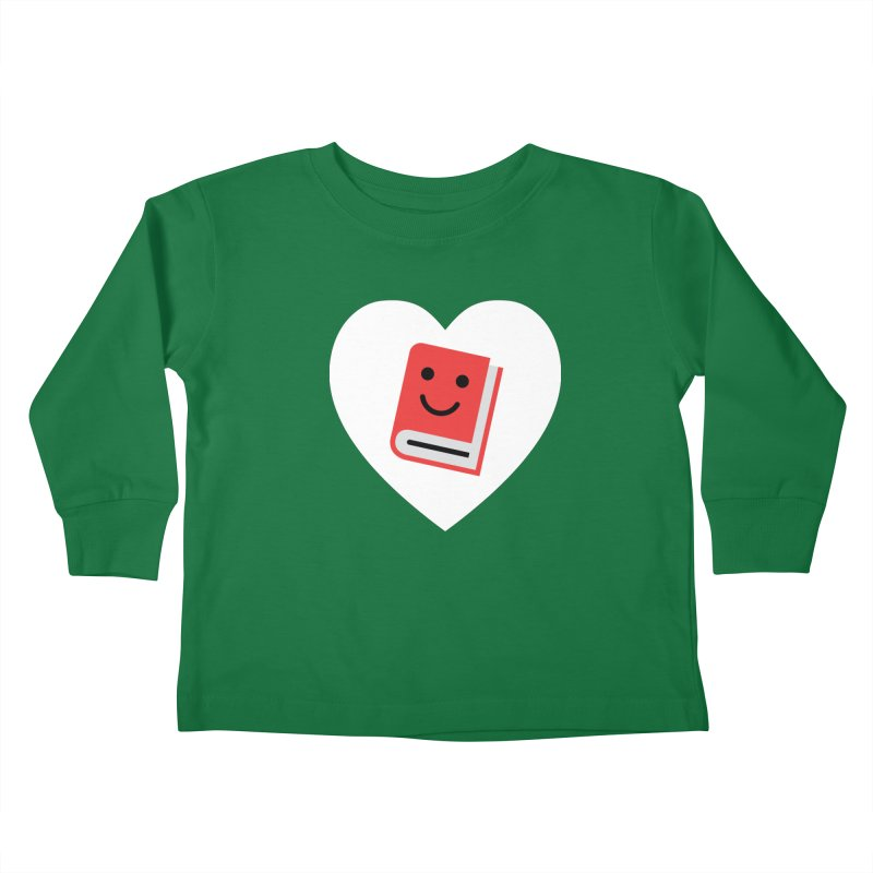 I Heart Books Kids Toddler Longsleeve T-Shirt by Eddie Fieg Graphic Design and Illustration