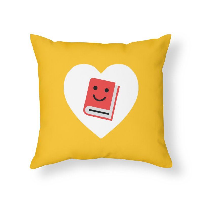 I Heart Books Home Throw Pillow by Eddie Fieg Graphic Design and Illustration