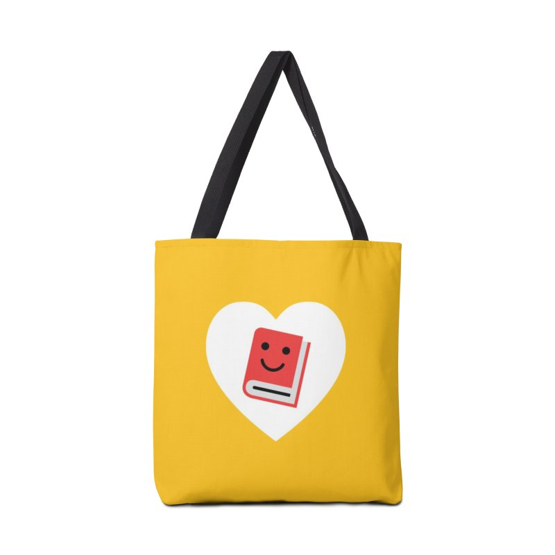 I Heart Books Accessories Tote Bag Bag by Eddie Fieg Graphic Design and Illustration