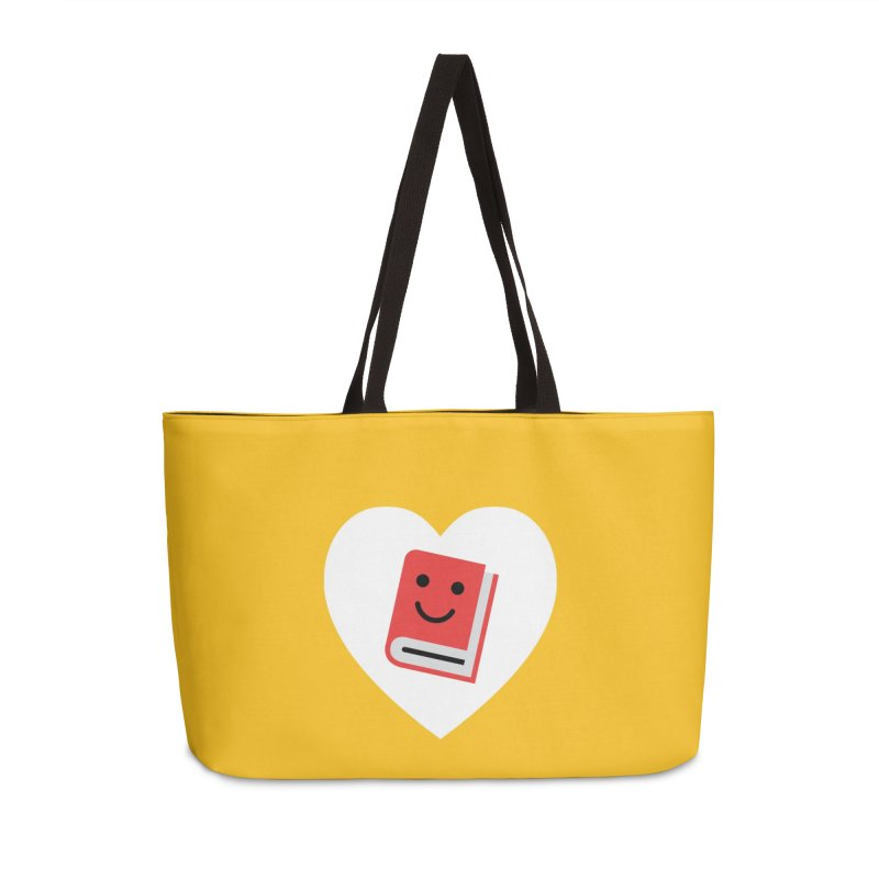 I Heart Books Accessories Weekender Bag Bag by Eddie Fieg Graphic Design and Illustration