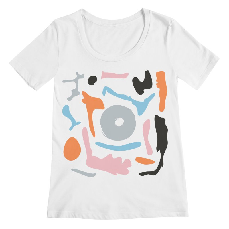 Abstract Design Experiment Women's Regular Scoop Neck by Eddie Fieg Graphic Design and Illustration