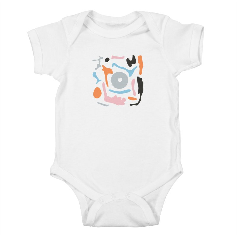 Abstract Design Experiment Kids Baby Bodysuit by Eddie Fieg Graphic Design and Illustration