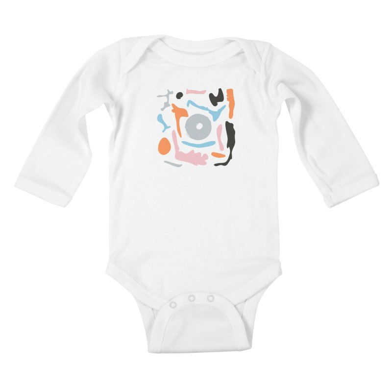 Abstract Design Experiment Kids Baby Longsleeve Bodysuit by Eddie Fieg Graphic Design and Illustration