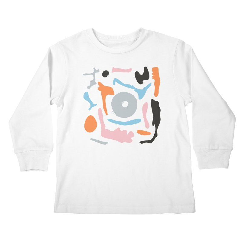 Abstract Design Experiment Kids Longsleeve T-Shirt by Eddie Fieg Graphic Design and Illustration