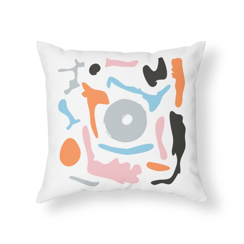 Abstract Design Experiment Home Throw Pillow by Eddie Fieg Graphic Design and Illustration