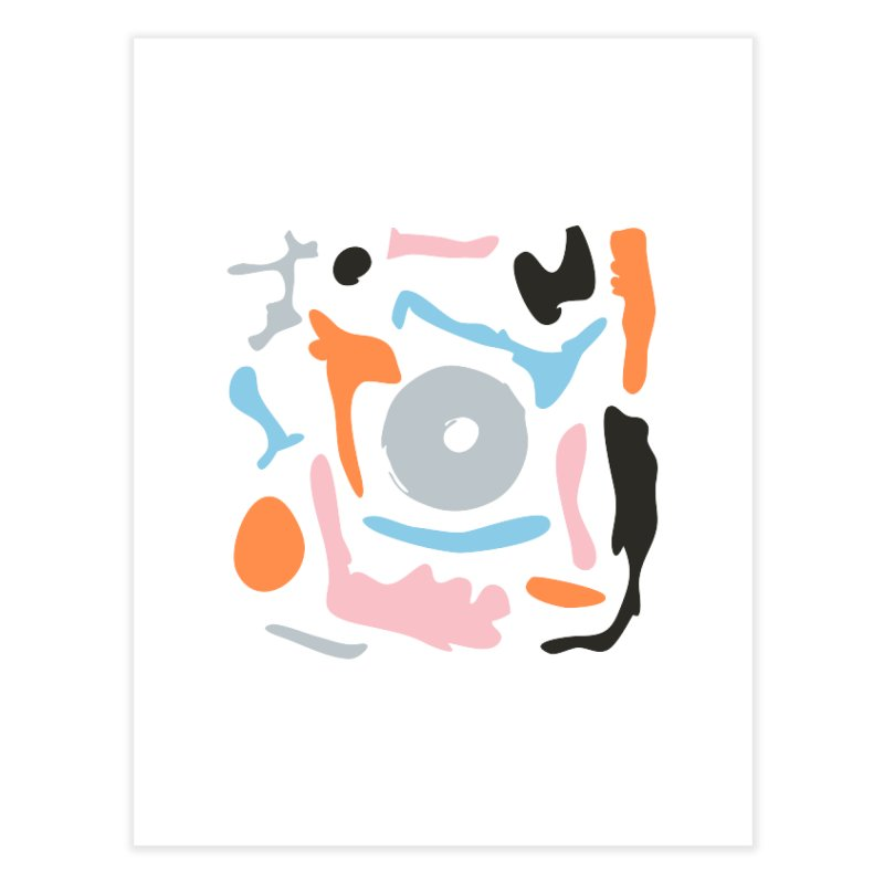 Abstract Design Experiment Home Fine Art Print by Eddie Fieg Graphic Design and Illustration
