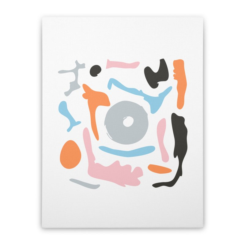 Abstract Design Experiment Home Stretched Canvas by Eddie Fieg Graphic Design and Illustration