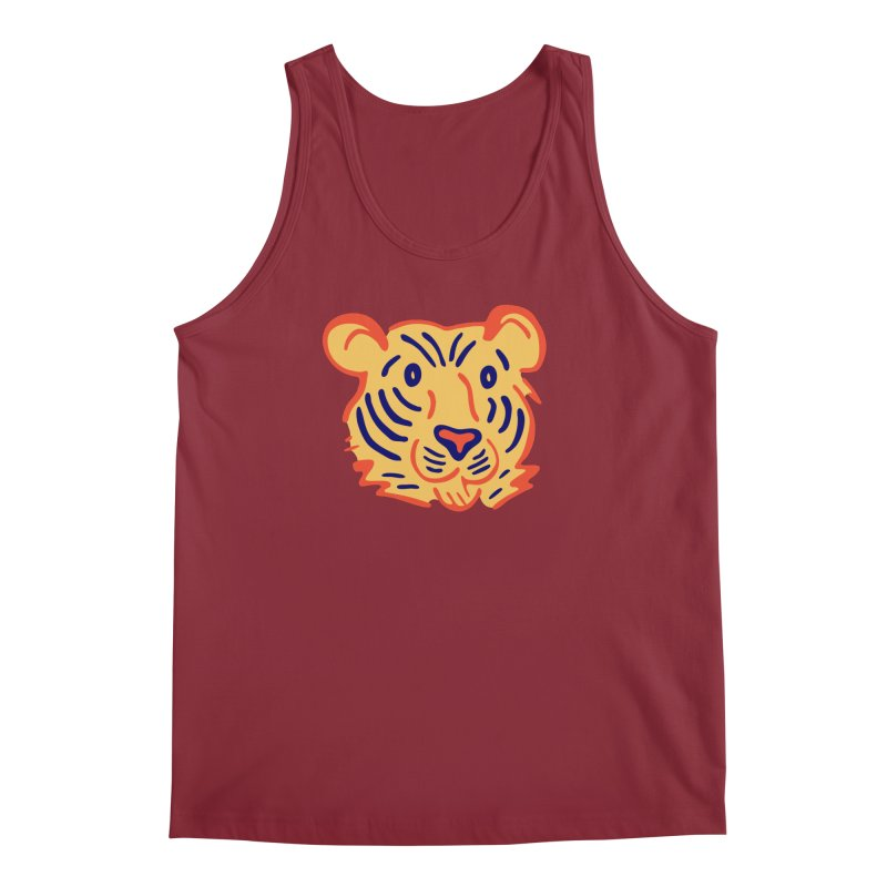 Tiger Men's Regular Tank by Eddie Fieg Graphic Design and Illustration