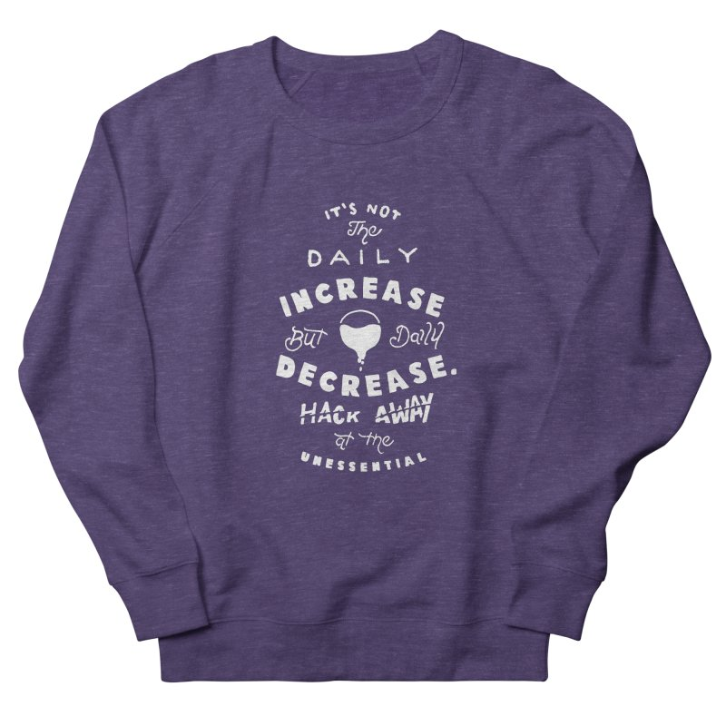 Hack Away at the Unnessential Women's French Terry Sweatshirt by eddymumbles's Artist Shop