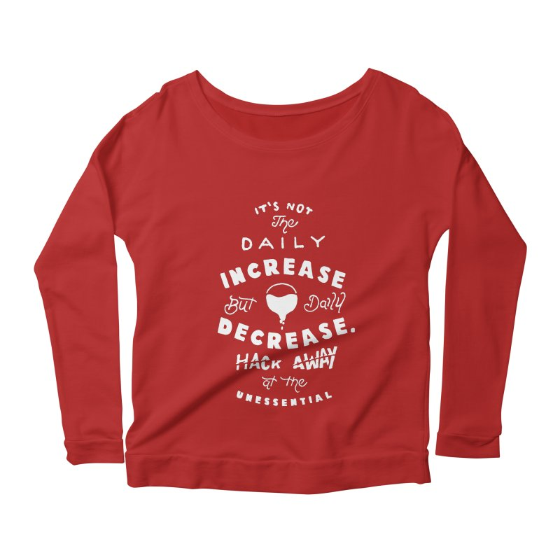 Hack Away at the Unnessential Women's Longsleeve Scoopneck  by eddymumbles's Artist Shop