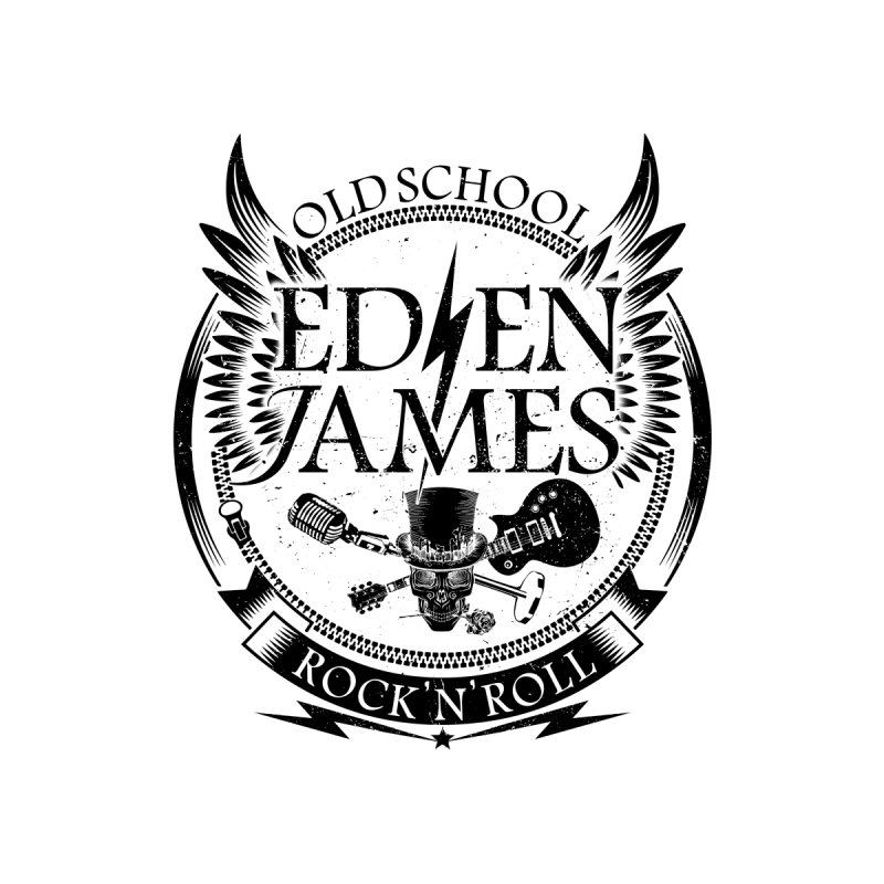 Old School Rock 'N' Roll - Sticker - Black on White/Clear Accessories Sticker by Eden James Merch Shop