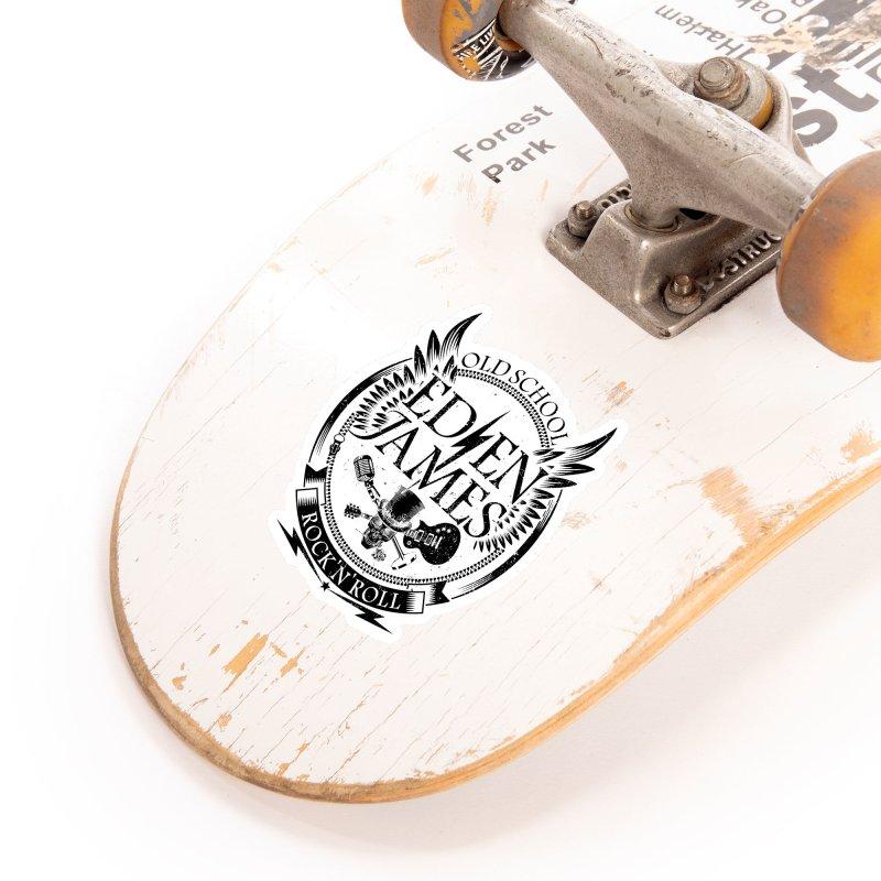 Old School Rock 'N' Roll - Sticker - Black on White/Clear Accessories Sticker by Eden James Merch Shop