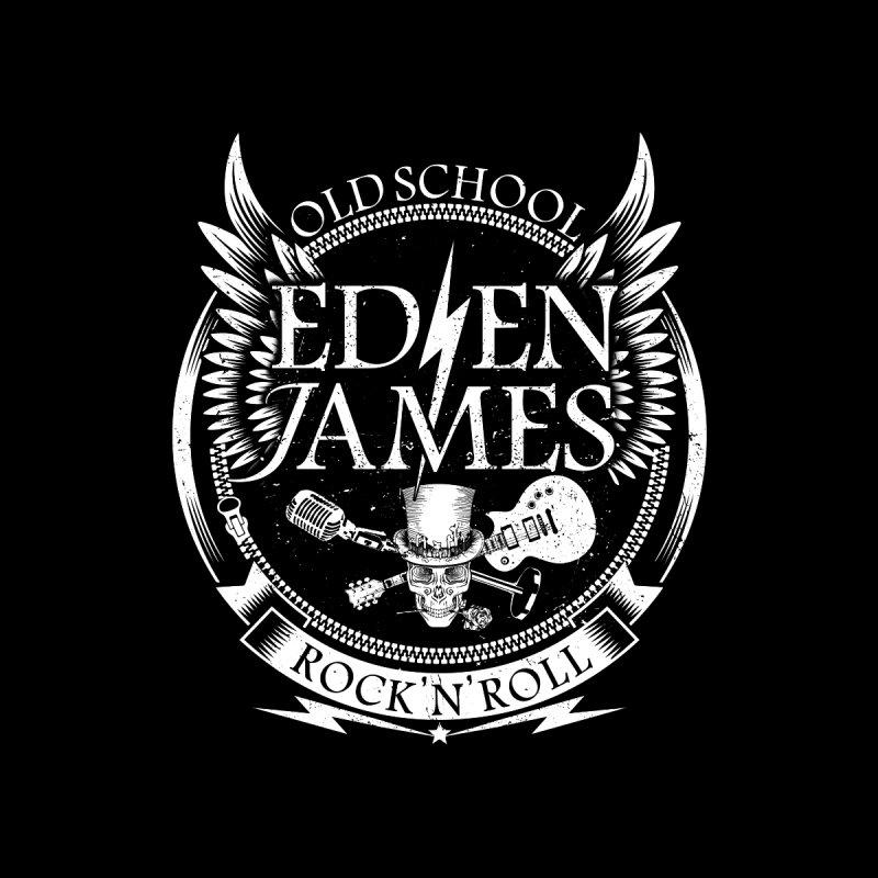 Old School Rock 'N' Roll - Sticker - White on Clear by Eden James Merch Shop