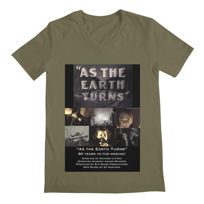 As the Earth Turns (Poster Art) Men's Regular V-Neck by EdHartmanMusic Swag Shop!