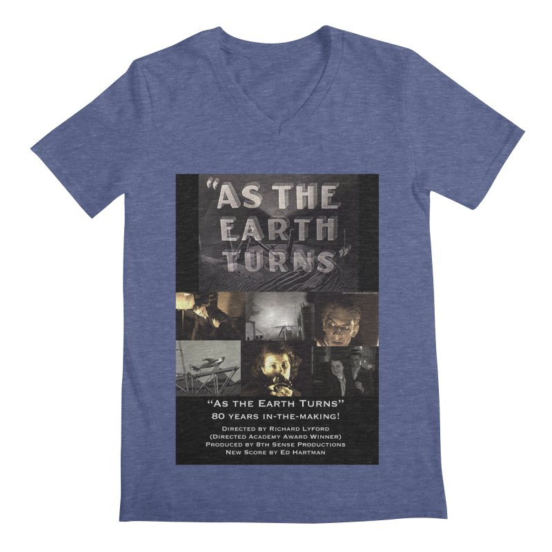 As the Earth Turns (Poster Art) Men's Regular V-Neck by EdHartmanMusic Swag Shop!