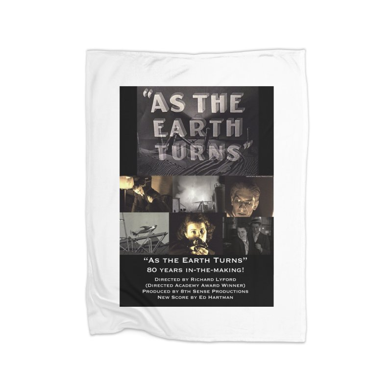 As the Earth Turns (Poster Art) Home Fleece Blanket Blanket by EdHartmanMusic Swag Shop!