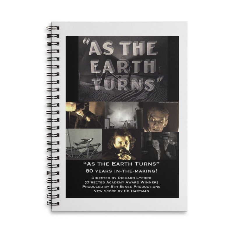 As the Earth Turns (Poster Art) Accessories Notebook by EdHartmanMusic Swag Shop!