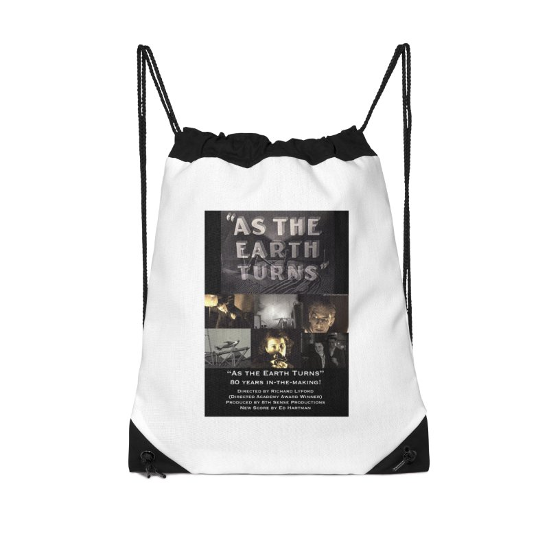 As the Earth Turns (Poster Art) Accessories Drawstring Bag Bag by EdHartmanMusic Swag Shop!