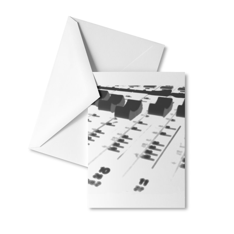 Mixing Board Mask Accessories Greeting Card by EdHartmanMusic Swag Shop!