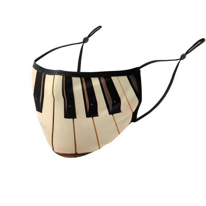 Piano Keyboard Mask Accessories Face Mask by EdHartmanMusic Swag Shop!