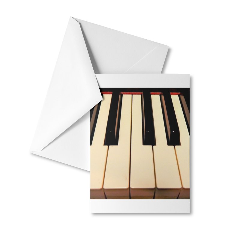 Piano Keyboard Mask Accessories Greeting Card by EdHartmanMusic Swag Shop!