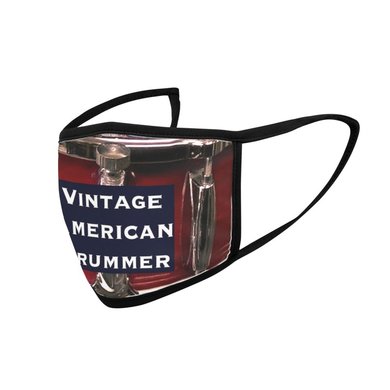 Vintage American Drummer (Vintage Wood Snare Drum) Accessories Face Mask by EdHartmanMusic Swag Shop!