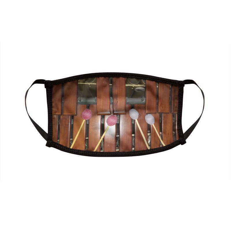Marimba Mask! Accessories Face Mask by EdHartmanMusic Swag Shop!