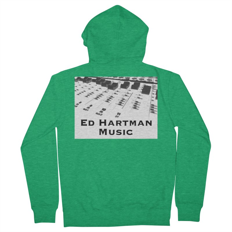 Ed Hartman Music LOGO Men's Zip-Up Hoody by EdHartmanMusic Swag Shop!