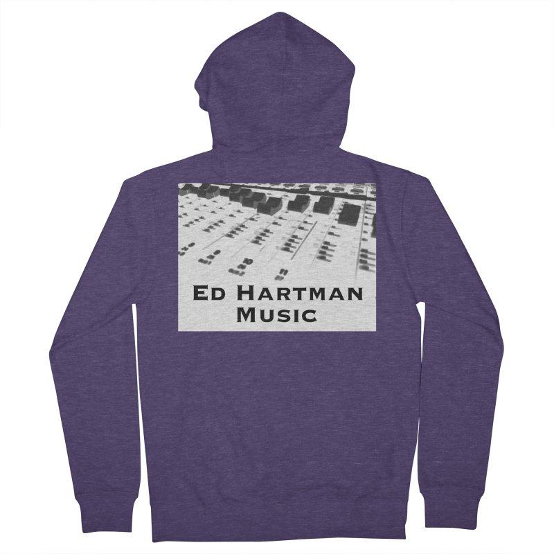Ed Hartman Music LOGO Men's French Terry Zip-Up Hoody by EdHartmanMusic Swag Shop!