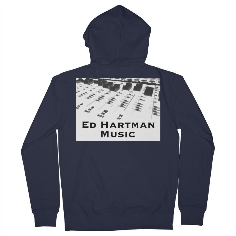 Ed Hartman Music LOGO Men's French Terry Zip-Up Hoody by EdHartmanMusic Swag Shop!