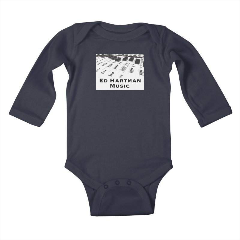 Ed Hartman Music LOGO Kids Baby Longsleeve Bodysuit by EdHartmanMusic Swag Shop!
