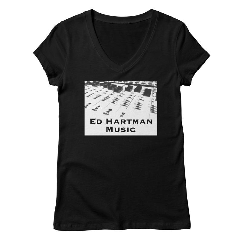 Ed Hartman Music LOGO Women's V-Neck by EdHartmanMusic Swag Shop!