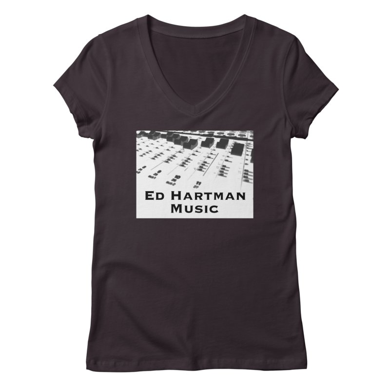 Ed Hartman Music LOGO Women's Regular V-Neck by EdHartmanMusic Swag Shop!