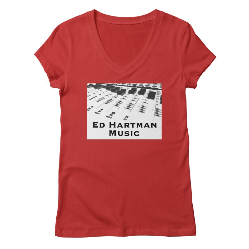 Ed Hartman Music LOGO Women's Regular V-Neck by EdHartmanMusic Swag Shop!