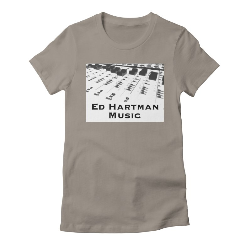 Ed Hartman Music LOGO Women's Fitted T-Shirt by EdHartmanMusic Swag Shop!