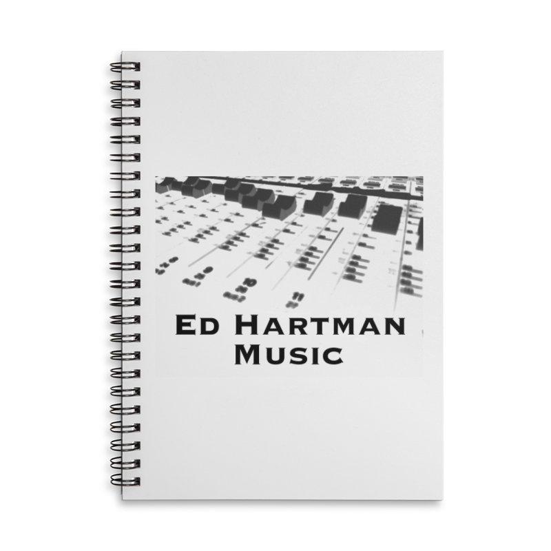 Ed Hartman Music LOGO Accessories Lined Spiral Notebook by EdHartmanMusic Swag Shop!