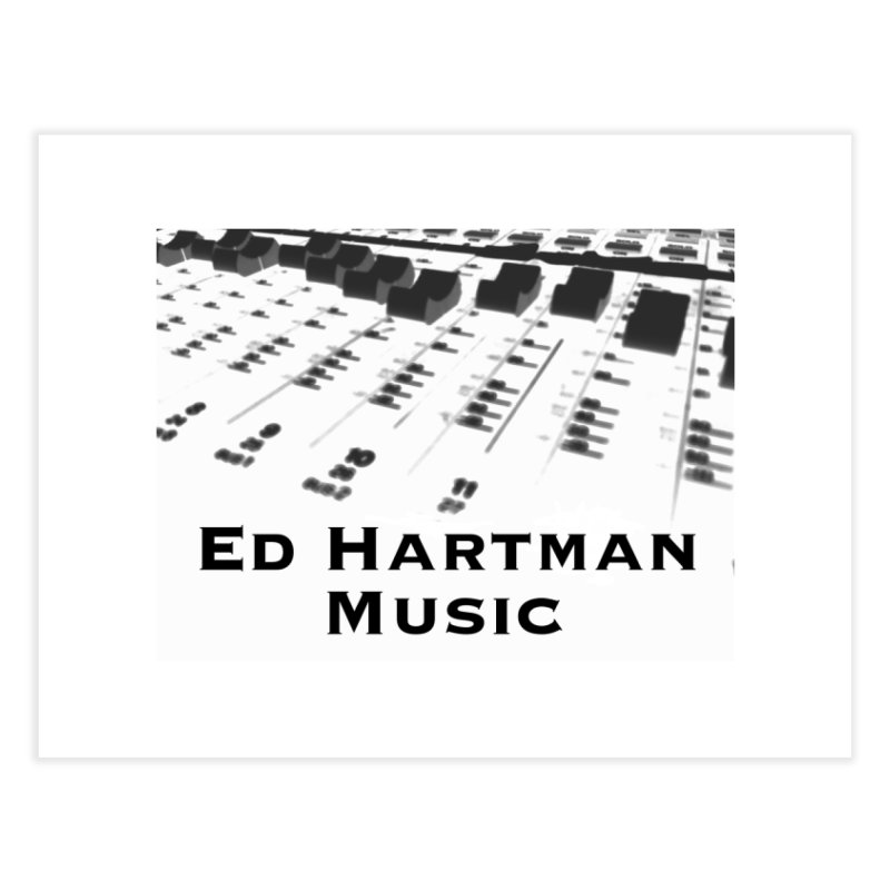 Ed Hartman Music LOGO Home Fine Art Print by EdHartmanMusic Swag Shop!