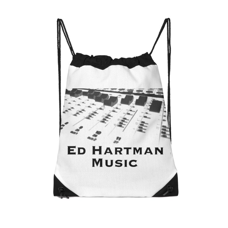 Ed Hartman Music LOGO Accessories Drawstring Bag Bag by EdHartmanMusic Swag Shop!