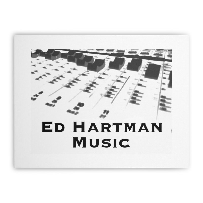Ed Hartman Music LOGO Home Stretched Canvas by EdHartmanMusic Swag Shop!