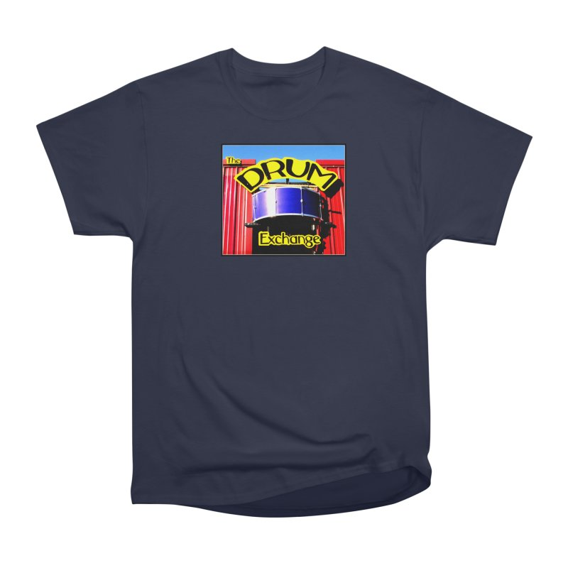 Drum Exchange Sign Women's Heavyweight Unisex T-Shirt by EdHartmanMusic Swag Shop!