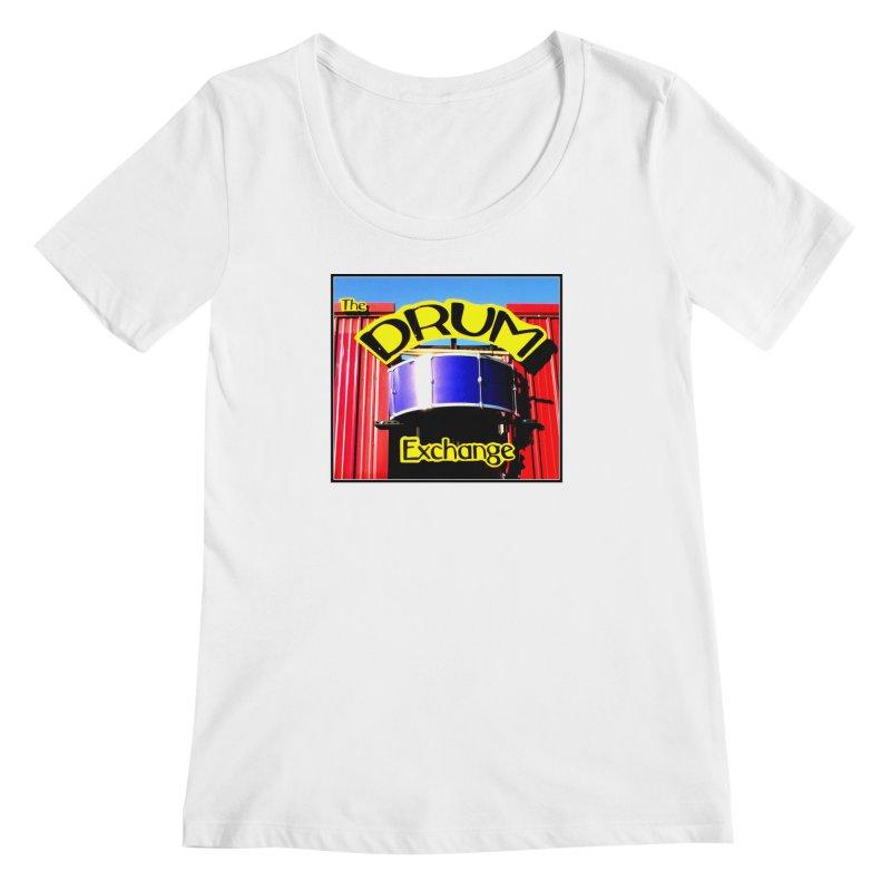 Drum Exchange Sign Women's Regular Scoop Neck by EdHartmanMusic Swag Shop!