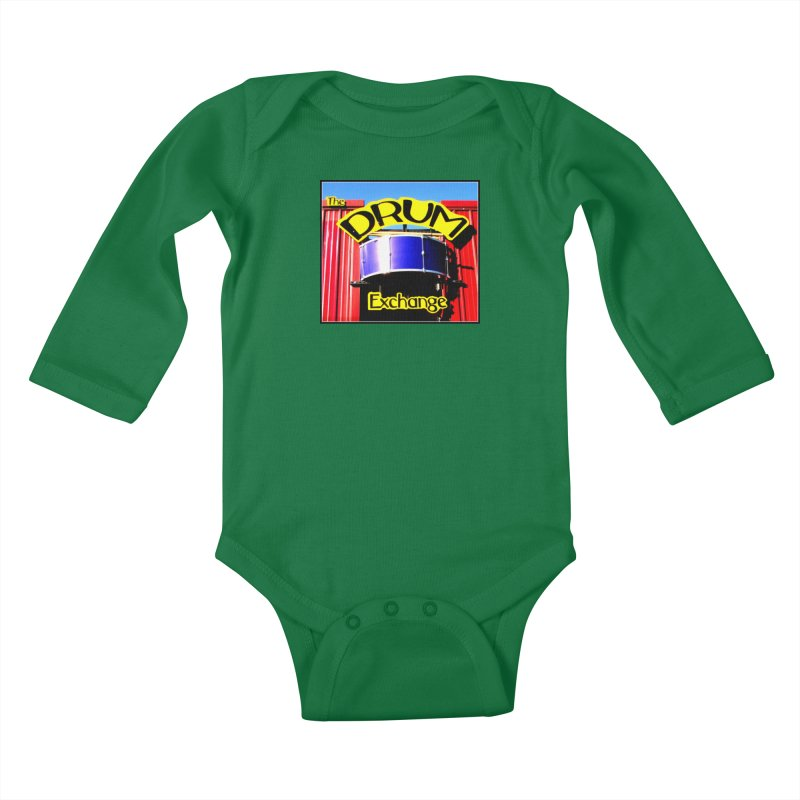 Drum Exchange Sign Kids Baby Longsleeve Bodysuit by EdHartmanMusic Swag Shop!