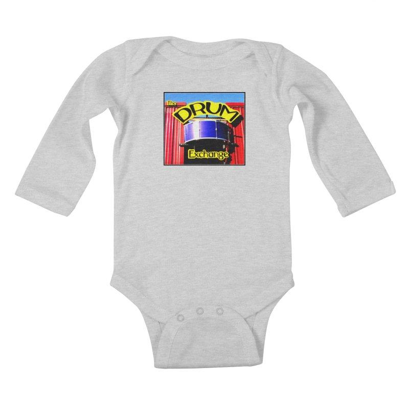 Drum Exchange Sign Kids Baby Longsleeve Bodysuit by EdHartmanMusic Swag Shop!