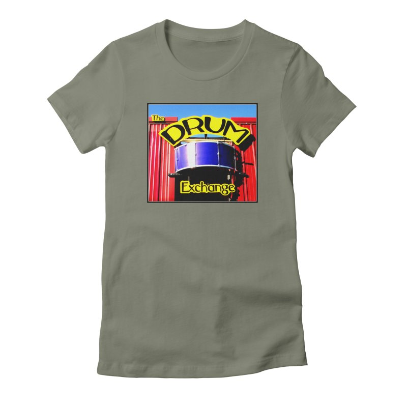 Drum Exchange Sign Women's Fitted T-Shirt by EdHartmanMusic Swag Shop!