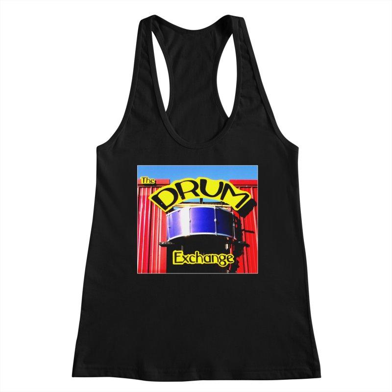 Drum Exchange Sign Women's Racerback Tank by EdHartmanMusic Swag Shop!